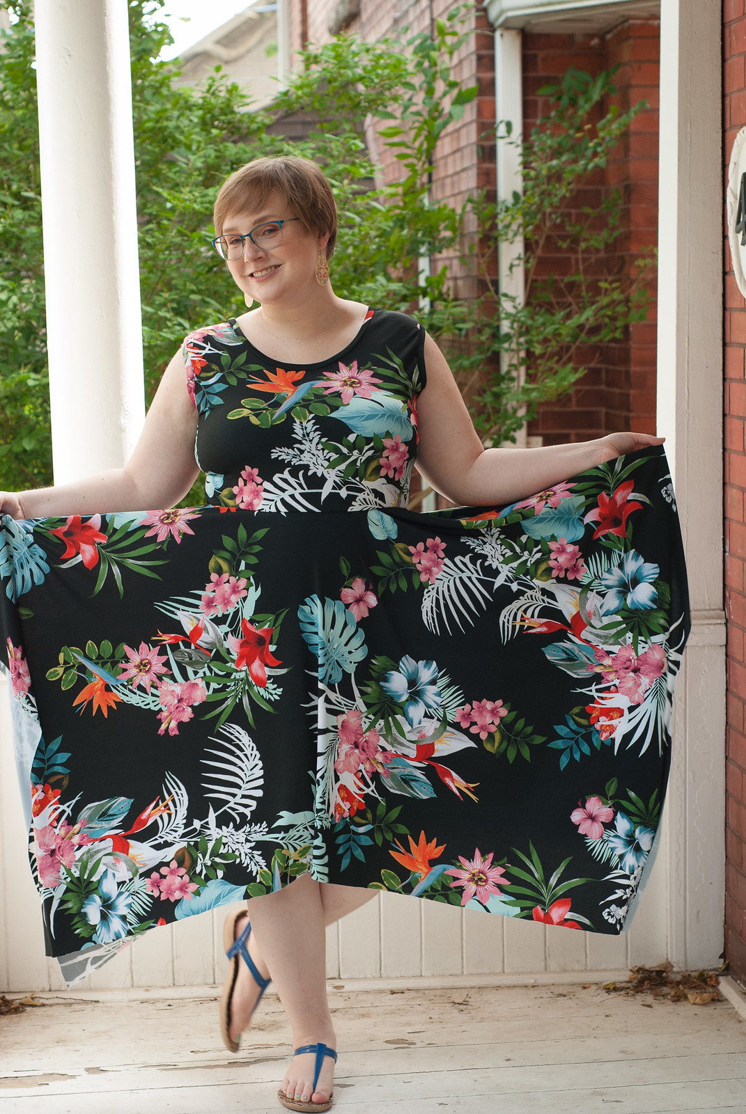 Dark Floral Dresses