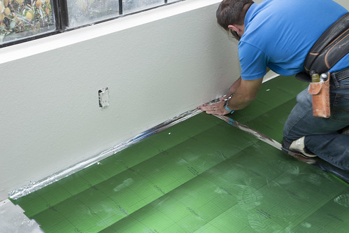 sealing the underlayment
