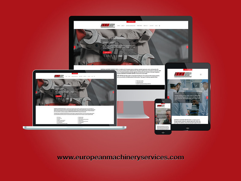 Eurpean Machinery Services Responsive Web Design