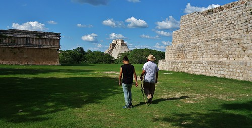 MEXIKO,Yucatán , Uxmal,  Rückmarsch,  19150/11809