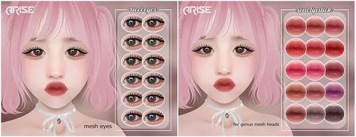 .ARISE. Ricci Eyes & Seni Lipstick