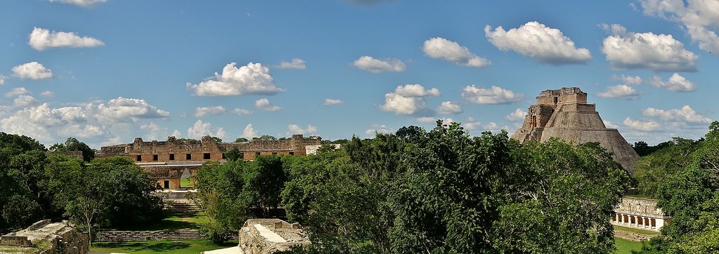MEXIKO,Yucatán , Uxmal,  Panorama,   19152/11811