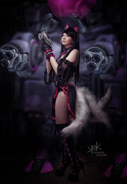 Galini Lin as Black Cat DVa-Ahri, by SpirosK photography