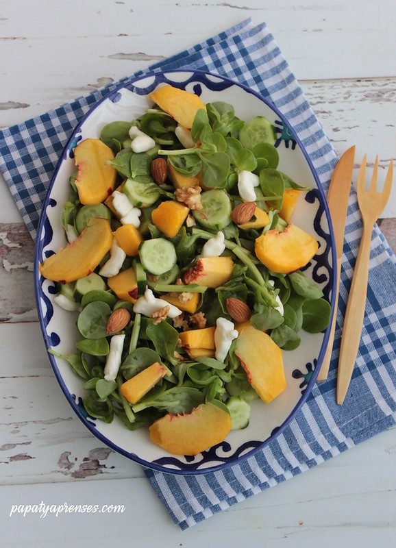 şeftalili semizotu salatası 021