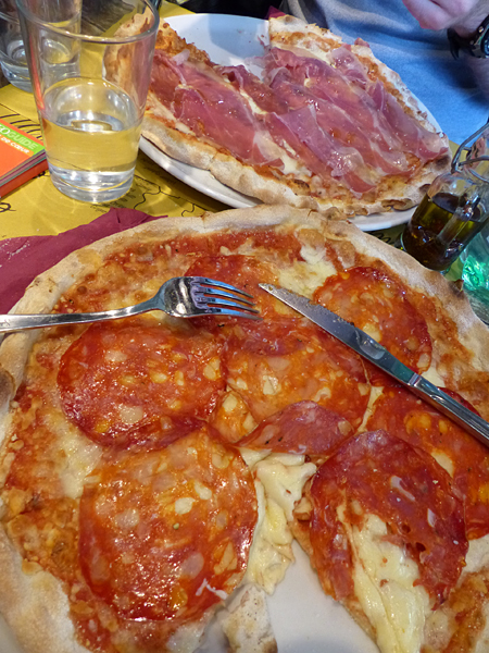 pizze avant le Vatican