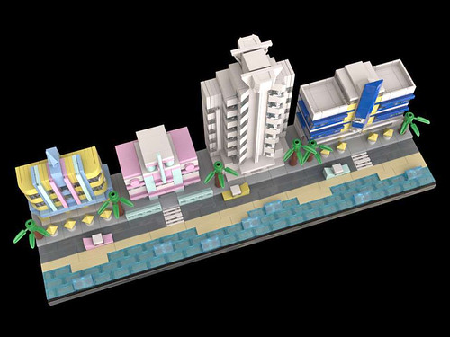 LEGO Miami Beach Art Deco 3 Top
