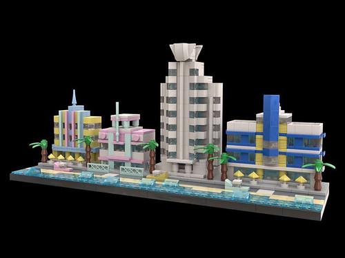 LEGO Miami Beach Art Deco 8 Angled Right