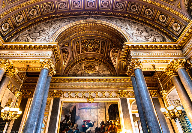 Artwork in the interior of Versailles, France-76