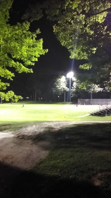 Baseball by night #toronto #kewgardens #beaches #night #lights #baseball