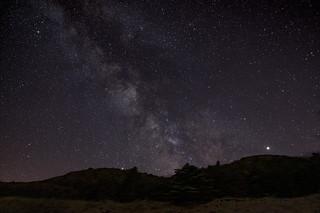 Milky Way, Jupiter and Saturn