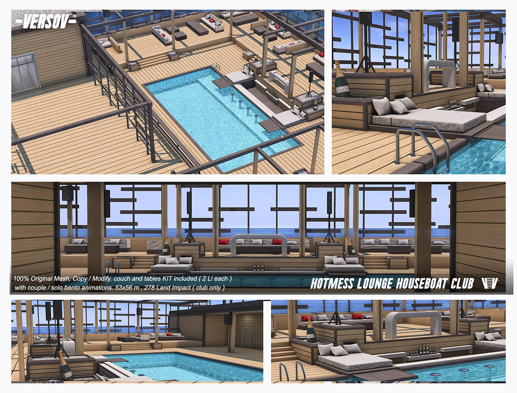 [ Versov // ] Hotmess Lounge-Houseboat available at FaMESHed