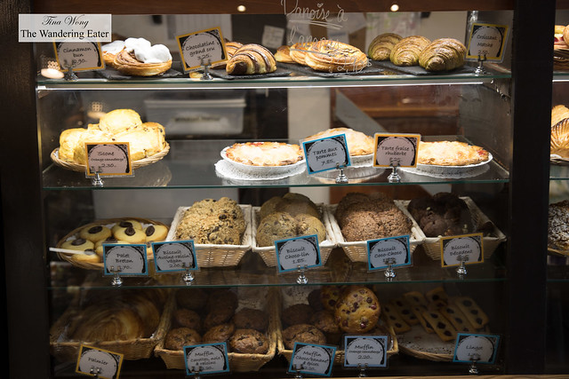 Display case of pastries and cookies
