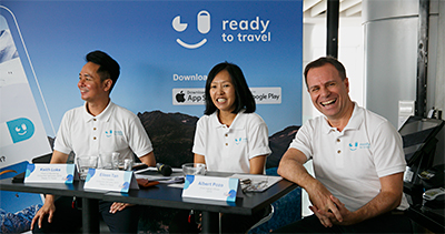 The Ready To Go team (from right): Albert Pozo – Chief Digital Officer, SATS; Eileen Tan – Vice President, Consumer Services, SATS (Ready To Travel); Head of Marketing, Consumer Services, SATS (Ready To Travel).
