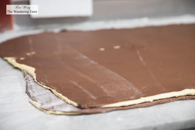 Making Grand Cru chocolate croissants