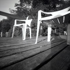 Chairs (pinhole photograph)