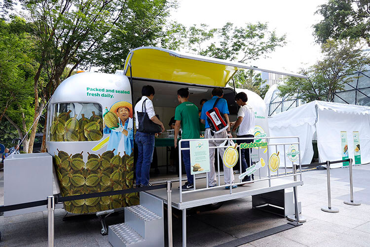 Grab Durian roadshow