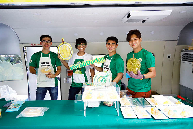 Grab Durian roadshows