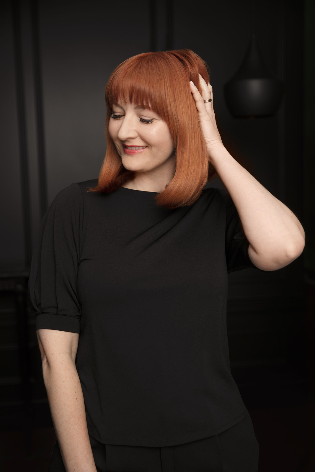 On Being the Redhead in the L'Oréal Garnier by Olia TV Advert - Catherine Summers, Not Dressed As Lamb (Over 40 Style Blogger)
