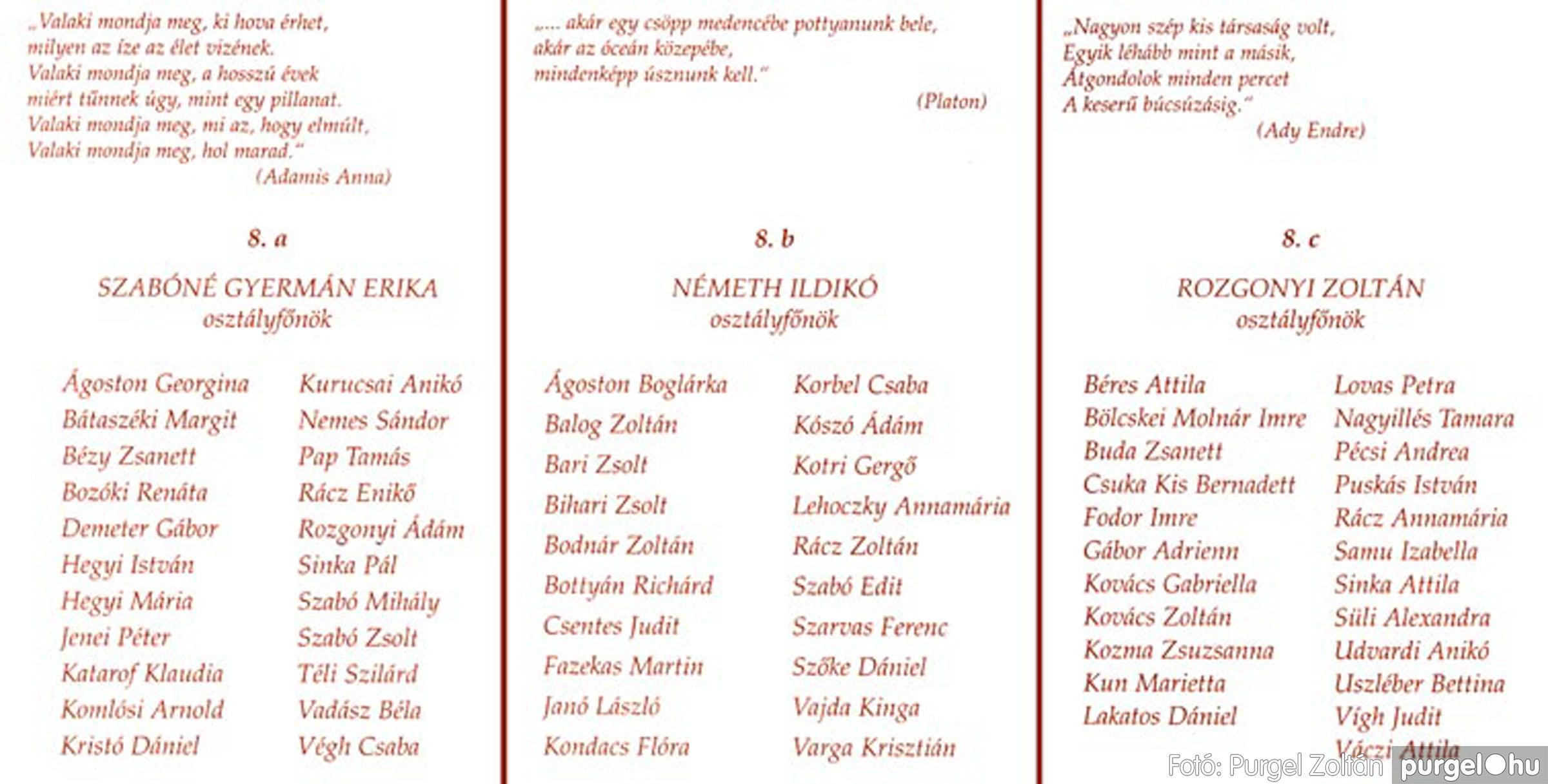 2004.06.12. 000 Forray Máté Általános Iskola ballagási meghívó 2004. - Fotó:PURGEL ZOLTÁN© 001.jpg