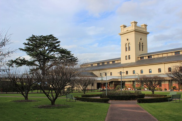 Tower and courtyard at former Kew Asylum (Willsmere)