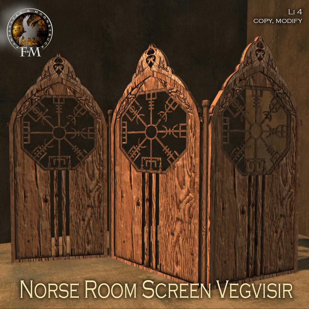F&M * Norse Room Screen Vegvisir - TeleportHub.com Live!