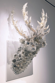 PixCell Double Deer: mixed media sculpture by Kohei Nawa, 2019 (Pace Gallery) | by longzijun