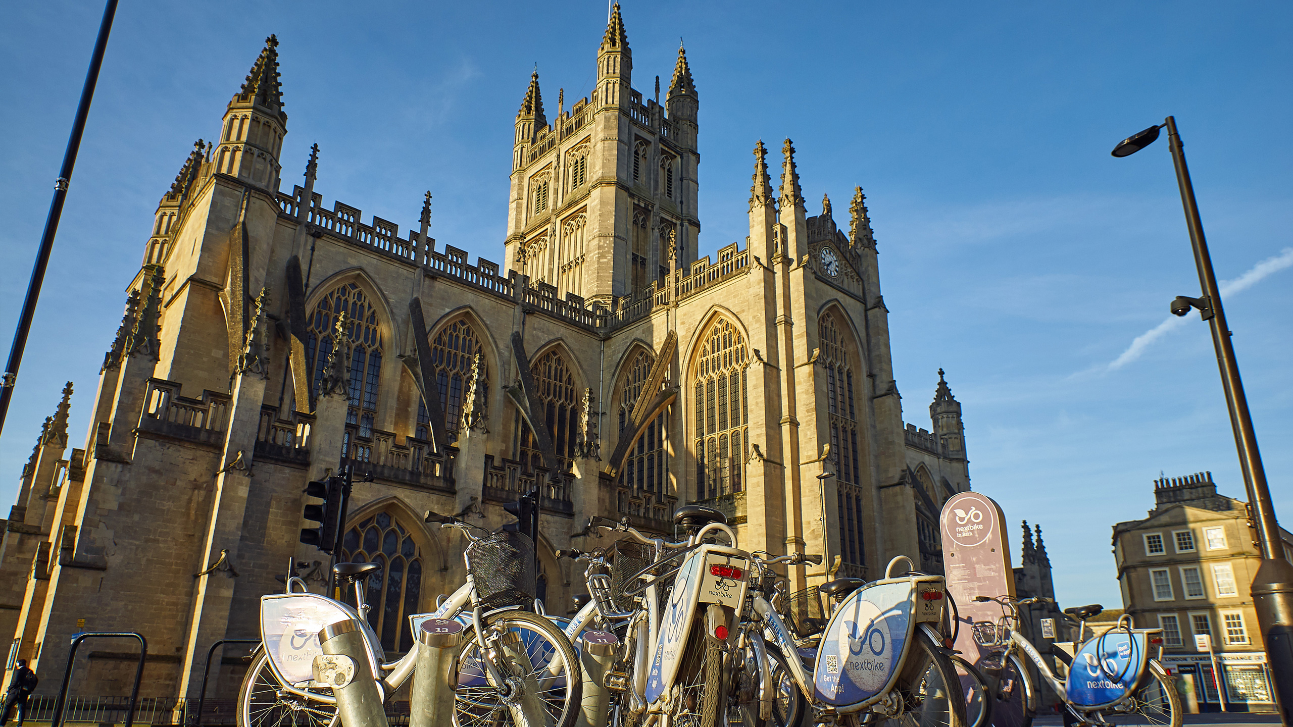 Bath Abbey with bikes outside