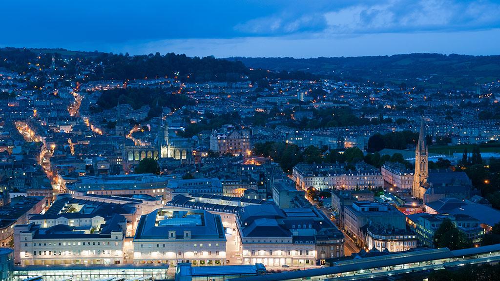City of Bath at night
