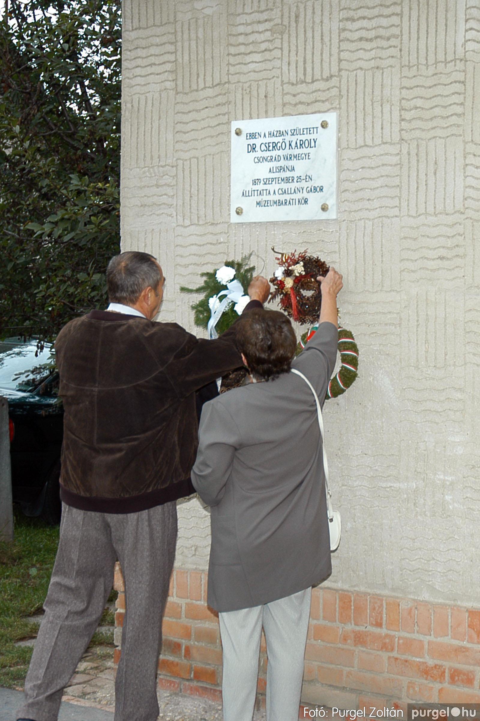 2004.09.25. 009 Dr. Csergő Károly alispán és kora című kiállítás és emléktábla avatás - Fotó:P. Z.©.jpg
