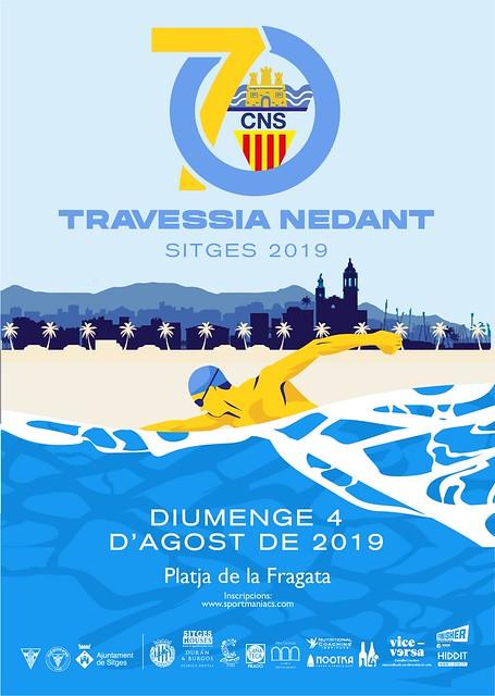 Travessia nedant Sitges 2019