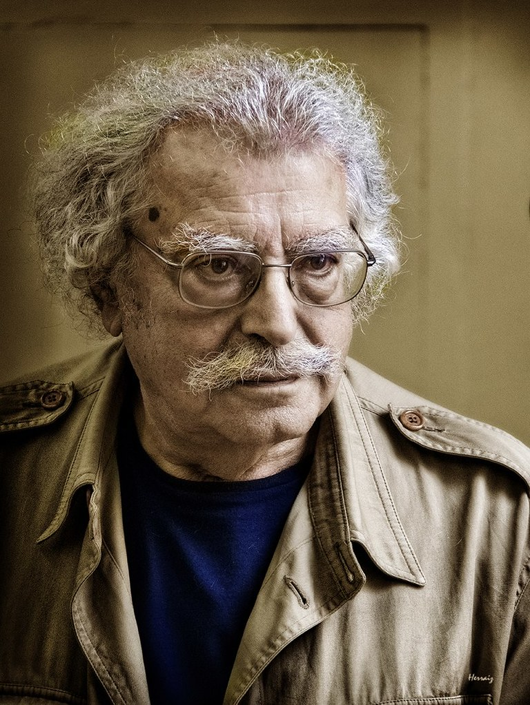 Retrato de Ramón Masats en Palencia por Ángel Herraiz