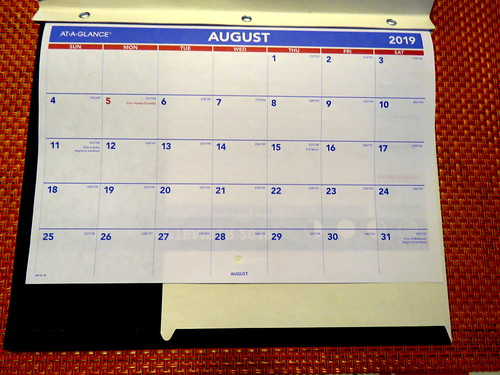 August 2019 Paper Diary