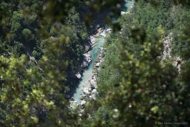 Verdon-joki kanjonin pohjalla