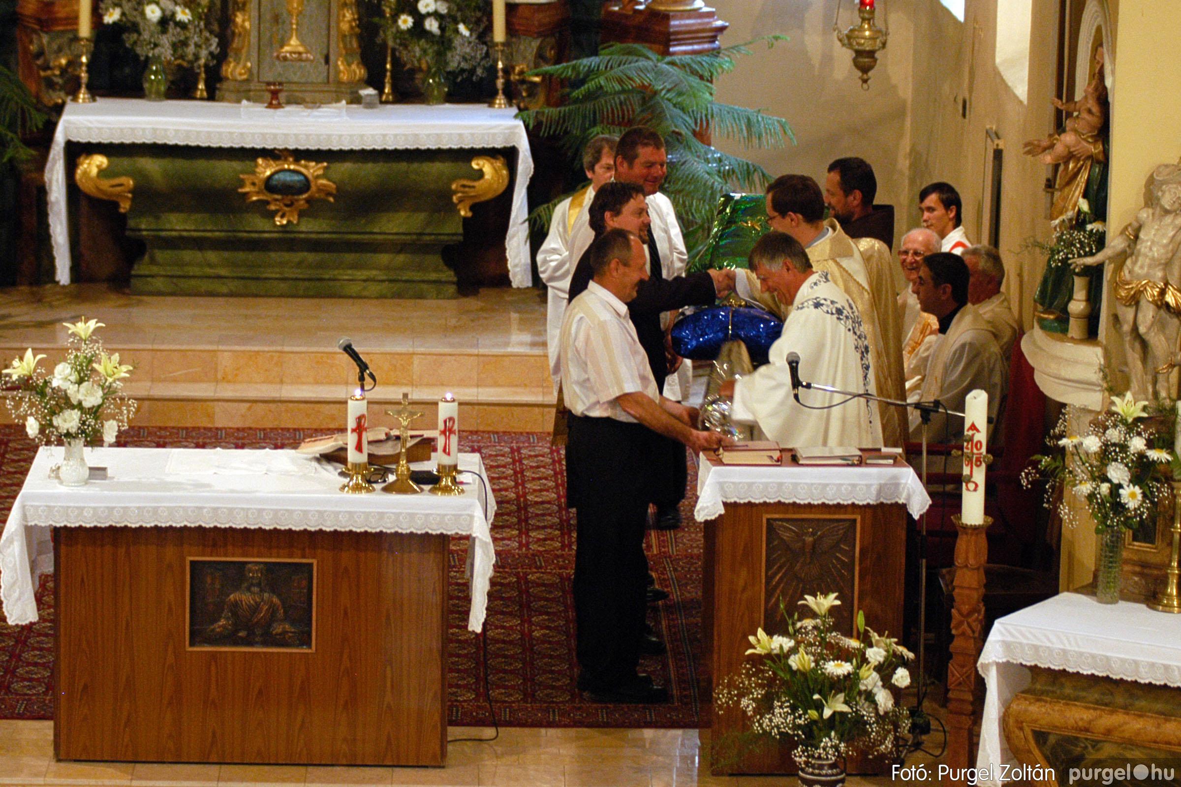 2005.06.25. 027 Kisboldogasszony templom ezüstmise, újmise - Fotó:PURGEL ZOLTÁN© DSC_0047q.jpg