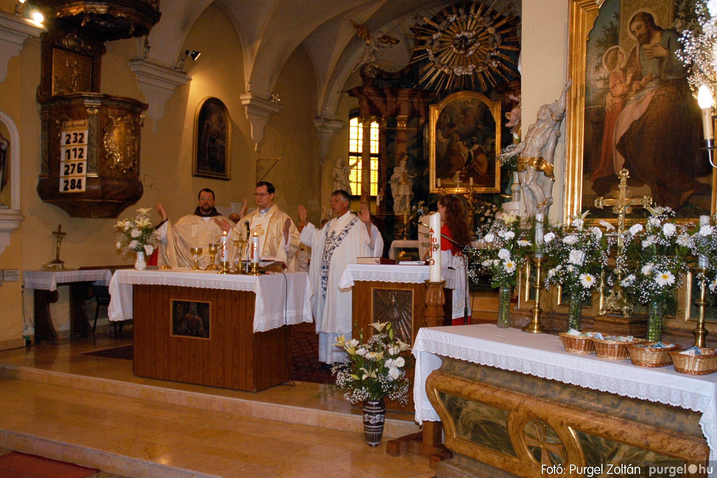 2005.06.25. 020 Kisboldogasszony templom ezüstmise, újmise - Fotó:PURGEL ZOLTÁN© DSC_0028q.jpg