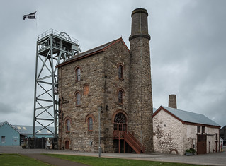 Robinson's Shaft Engine House and Headframe, South Crofty MIne.