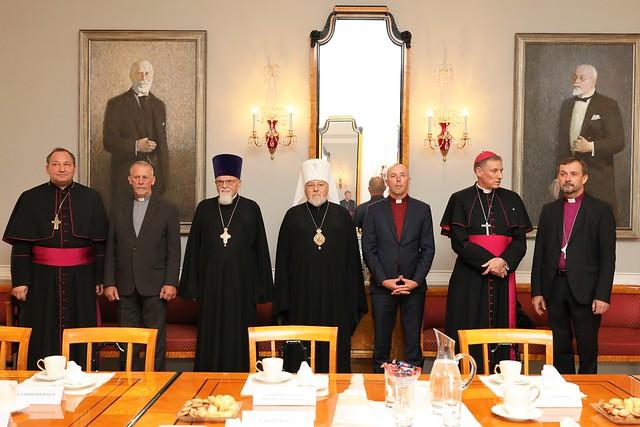Valsts prezidenta tikšanās ar Latvijas vadošo reliģisko konfesiju pārstāvjiem