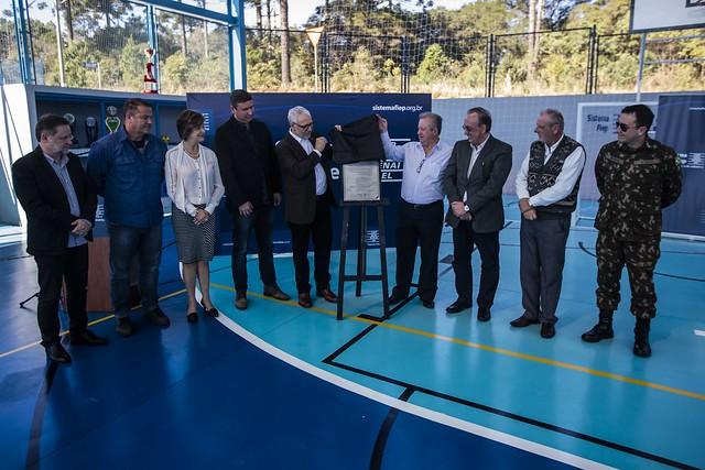 Inauguração da quadra poliesportiva em Rio Negro