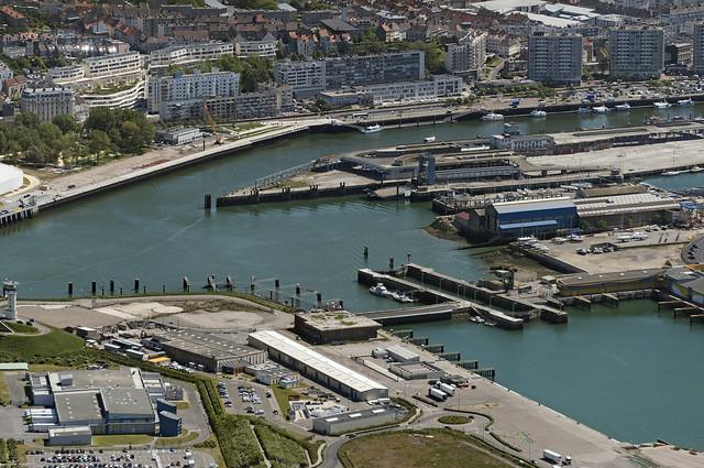 Boulogne-sur-Mer in France - aerial image
