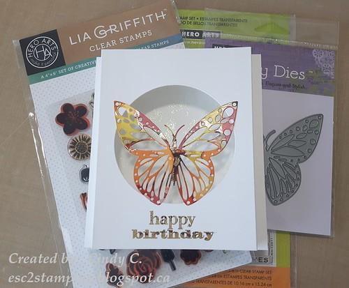 Fancy Butterfly Pop Up Window card
