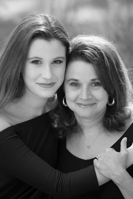 Mother Daughter black & white