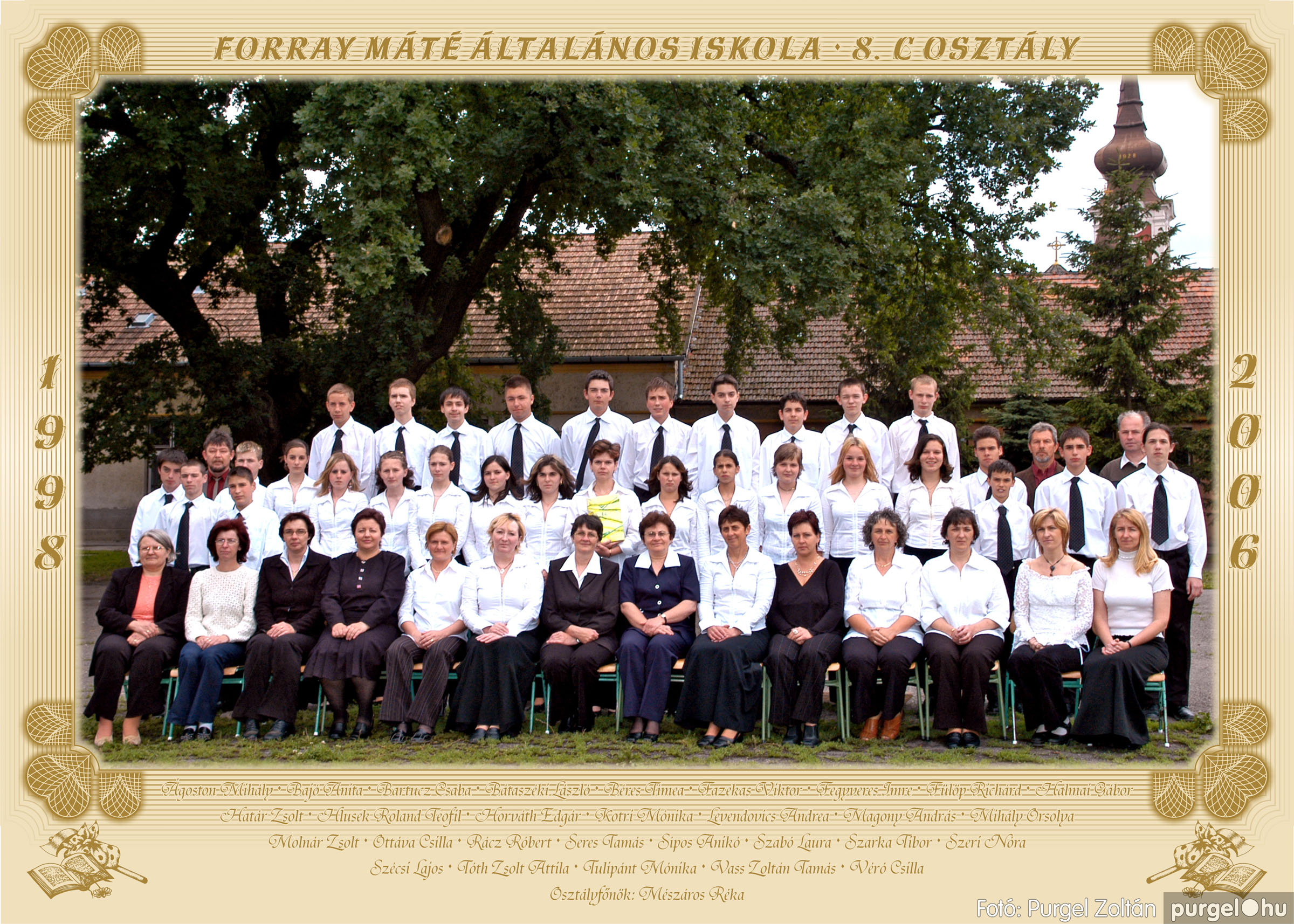 2006.05.31. 003 Forray Máté Általános Iskola osztályképek 2006. - Fotó:PURGEL ZOLTÁN© 8.c osztály.jpg