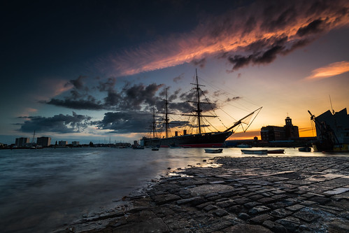 portsmouth thehard commonhard hmswarrior gunwharfquays slipway gosport navy ship portsmouthharbour hampshire uk canon 80d sigma 1020mm leefilters