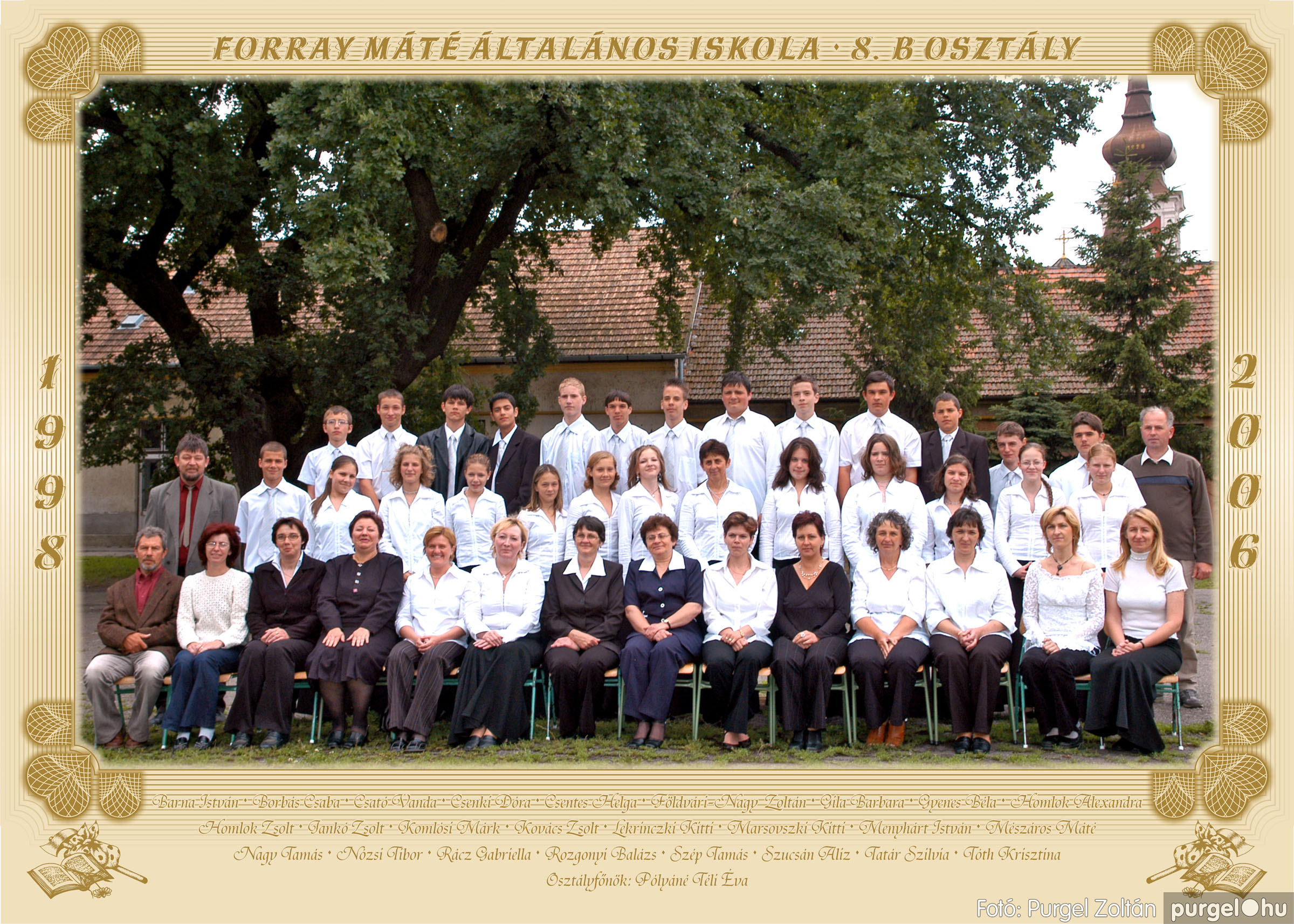 2006.05.31. 002 Forray Máté Általános Iskola osztályképek 2006. - Fotó:PURGEL ZOLTÁN© 8.b osztály.jpg