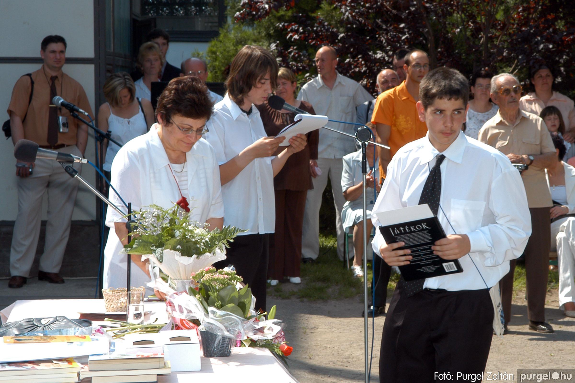 2006.06.17. 114 Forray Máté Általános Iskola ballagás 2006. - Fotó:PURGEL ZOLTÁN© DSC_0150q.jpg