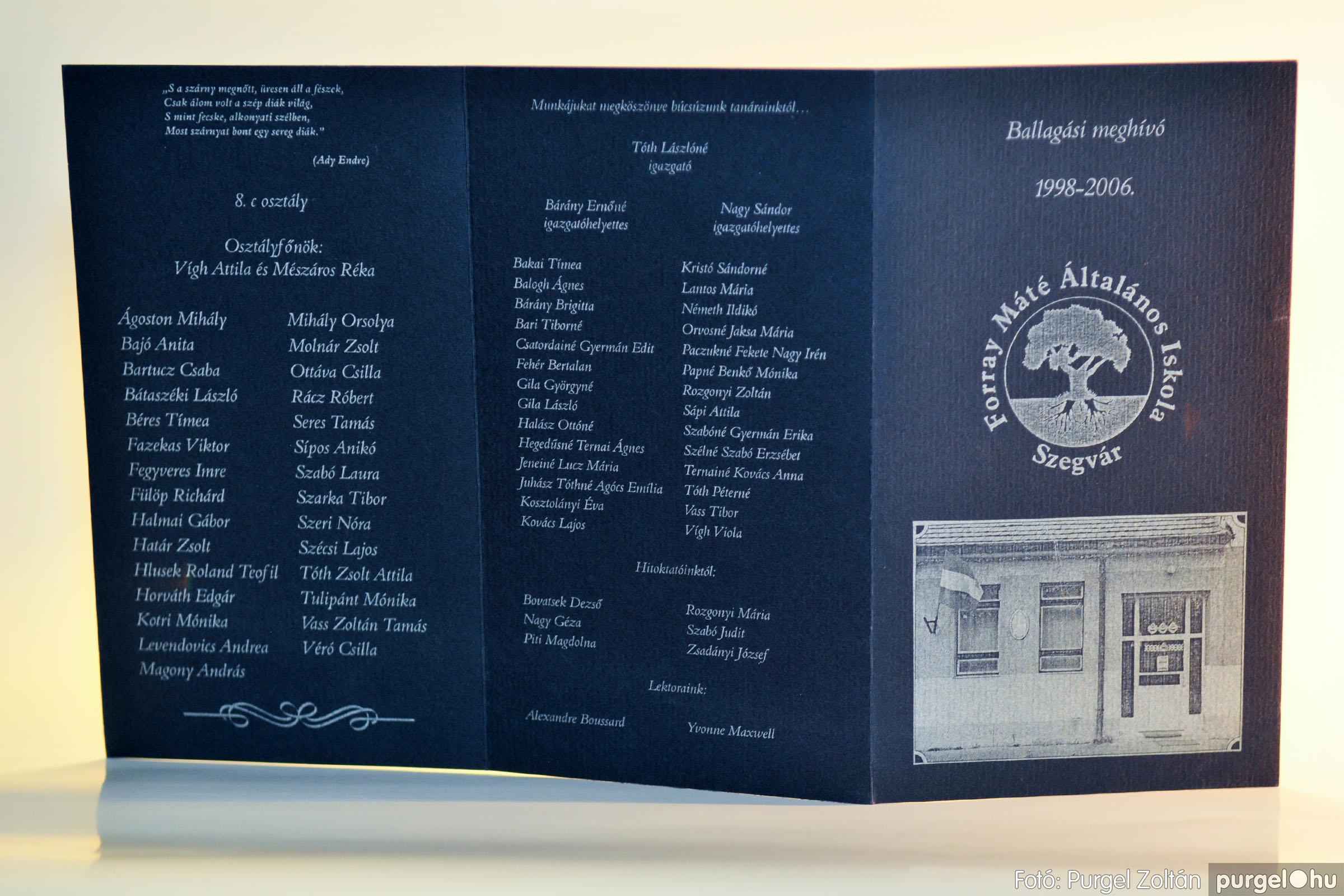 2006.06.17. 000 Forray Máté Általános Iskola ballagási meghívó 2006. - Fotó:PURGEL ZOLTÁN© D3K_7353q.jpg