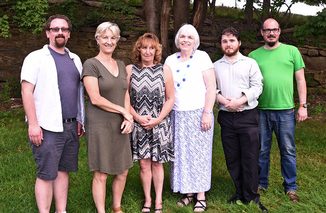 The Office of Communications bids farewell to Patsy Evans on her retirement. Best wishes, Patsy, and thank you! Left to right: Jason Sheldon, Sara Putnam, Lori Barlow, Patsy Evans, Nick Hanna, Kevin Noonan. Best wishes, Patsy, and thank you!