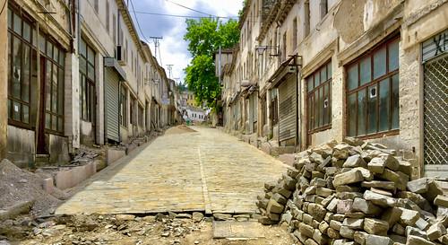 gjirokastër albania albania2019 ipadair2 bazar revitalization construction architecture