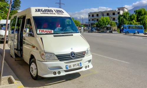 gjirokastër albania albania2019 ipadair2 furgon transportation minibus