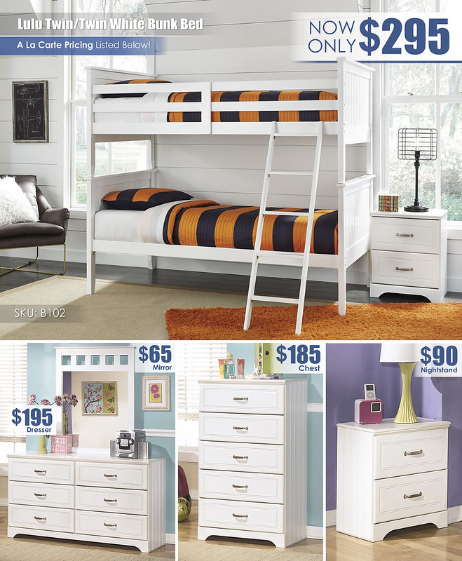 Lulu White Twin over Twin Bunk_Layout_B102